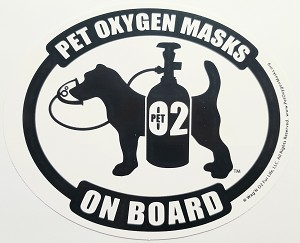Pet Oxygen Masks On Board Decals